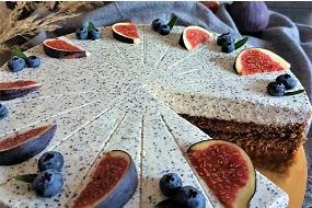 Čokoládový dort s makovým krémem