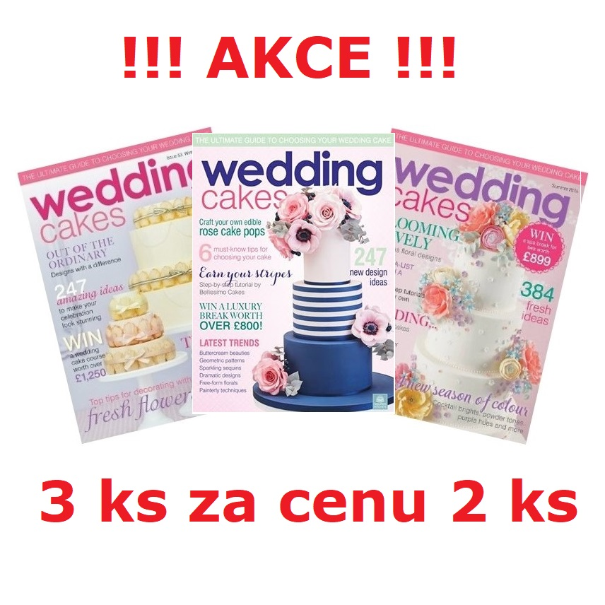 časopis Wedding cakes , 3 ks za cenu 2 ks