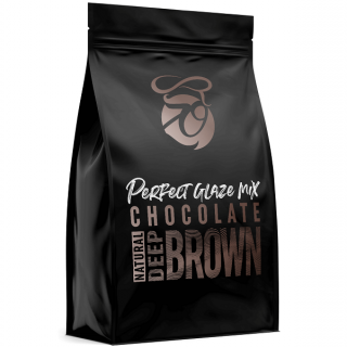 Zrcadlová poleva Perfect Glaze Chocolate Mix DEEP BROWN 750g