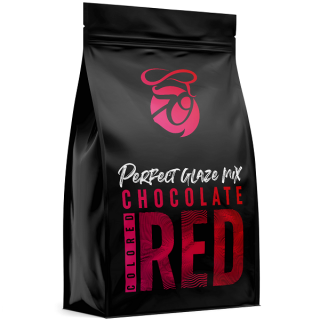 Zrcadlová poleva Perfect Glaze Chocolate Mix RED 300g