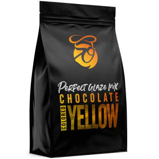 Zrcadlová poleva Perfect Glaze Chocolate Mix YELLOW 300g