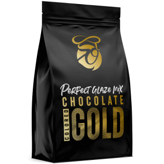 Zrcadlová poleva Perfect Glaze Chocolate Mix GOLD 300g